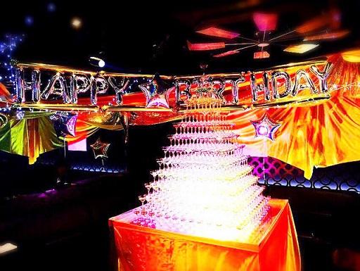 ホストの誕生日パーティー