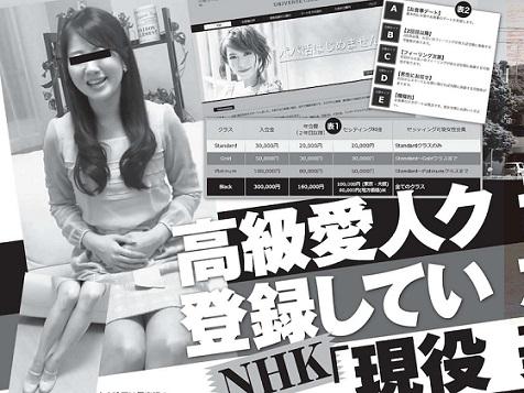 NHK女子アナ 交際クラブ